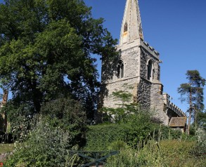 Brooksby church taken from the grounds