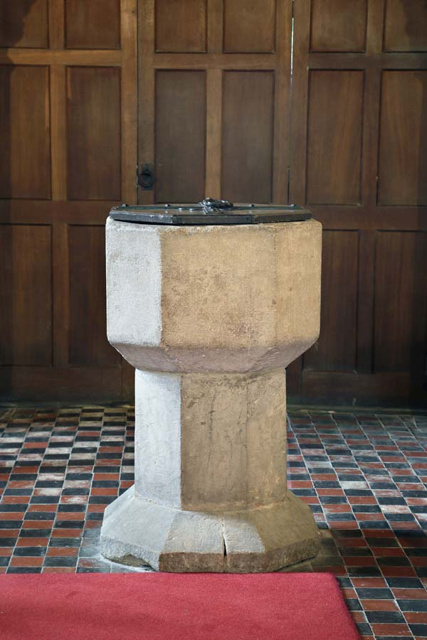 Font at Brooksby Church