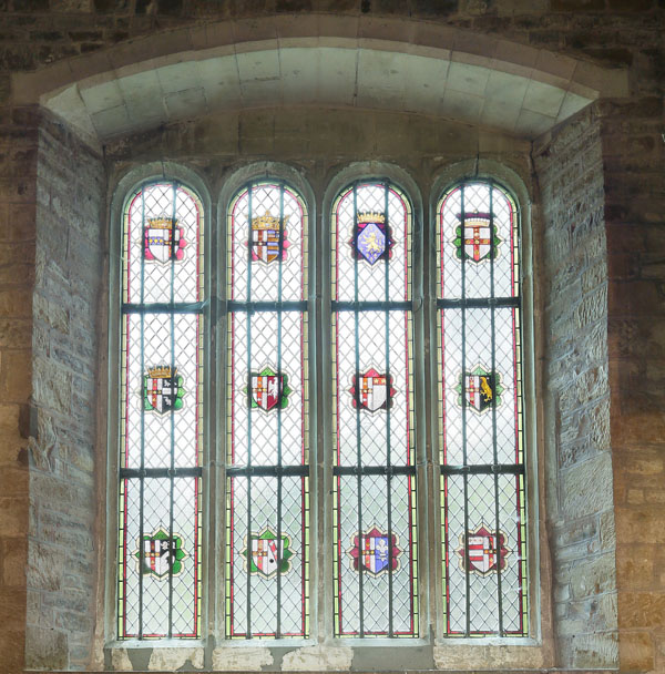 East window at Brooksby Church