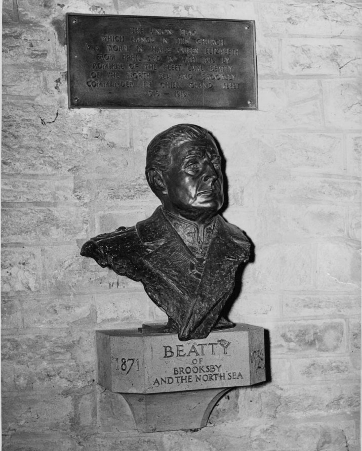 bust of Lord Beatty in Brooksby